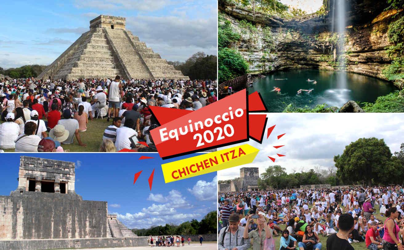 Chichen Itzá 21 Marzo, 2018, Equinoccio desde Cancún