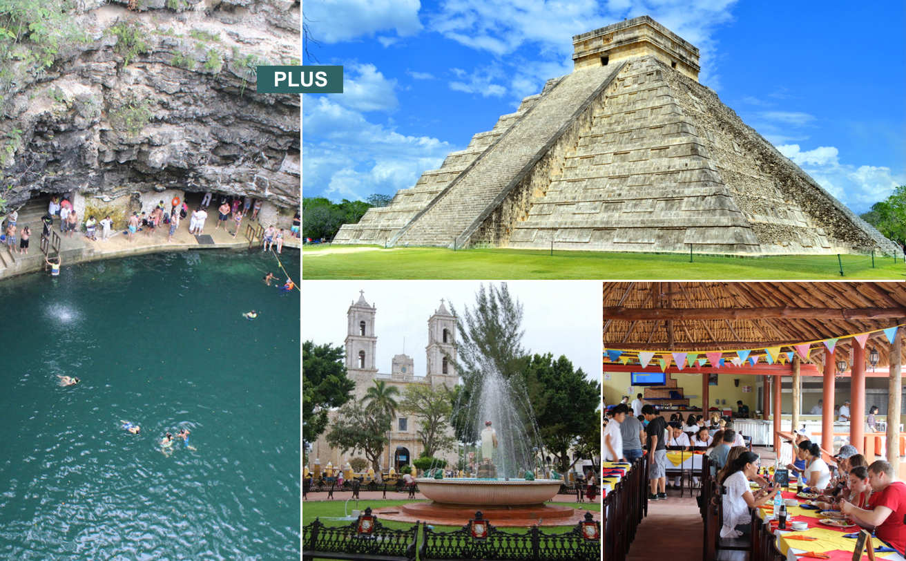 Chichen Itzá desde Playa del Carmen PLUS y Cenote Selva Maya ✪