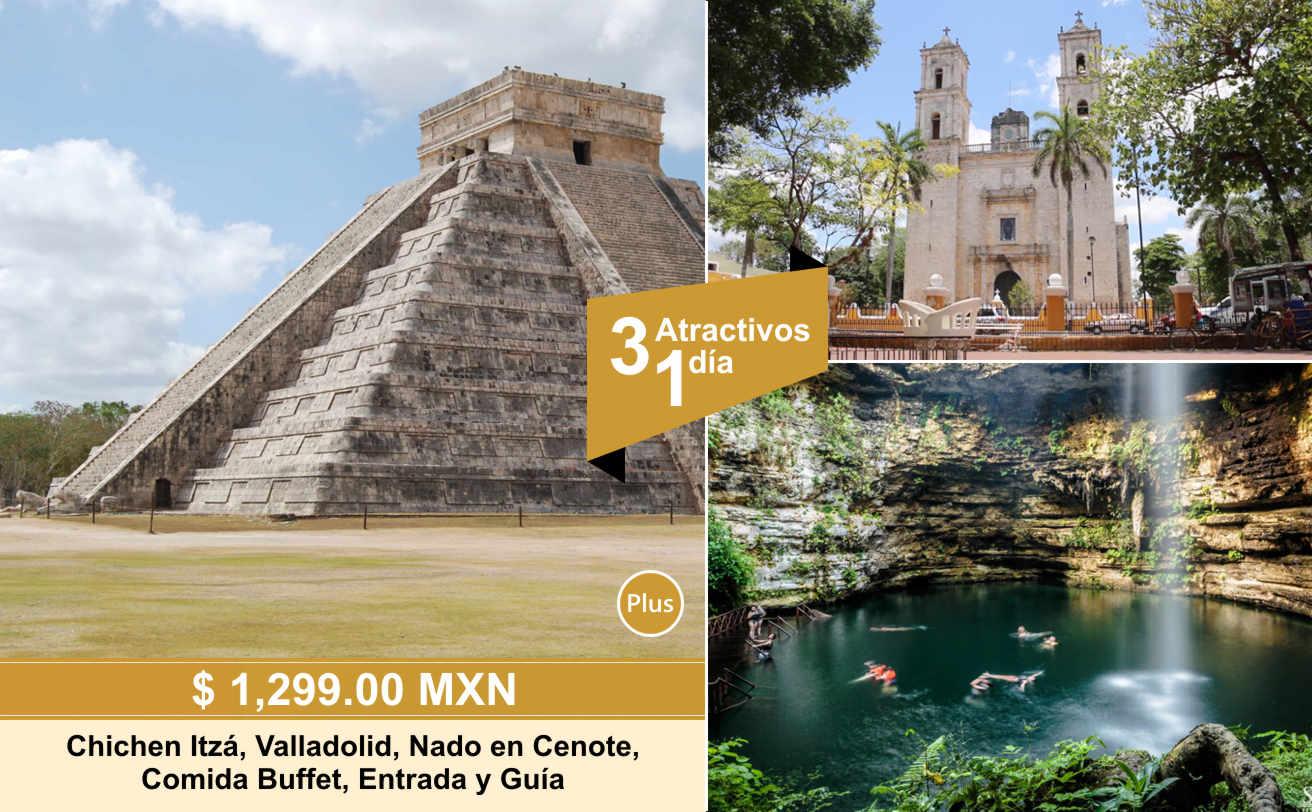 Chichen Itzá desde Puerto Morelos DELUXE y Cenote | VC19