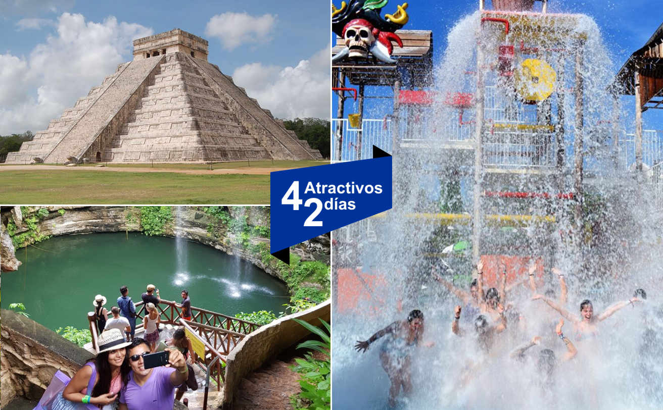 Chichen Itzá + Isla Mujeres | 2 DIAS 2 tours | Vg