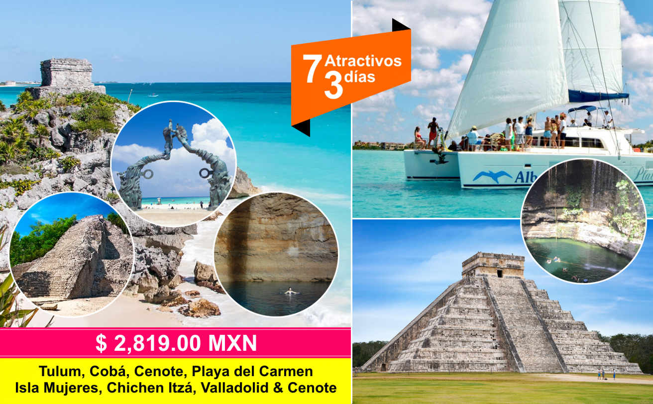 Tulum, Cobá, Cenote, Chichen Itzá e Isla Mujeres desde Playa del Carmen | VC19