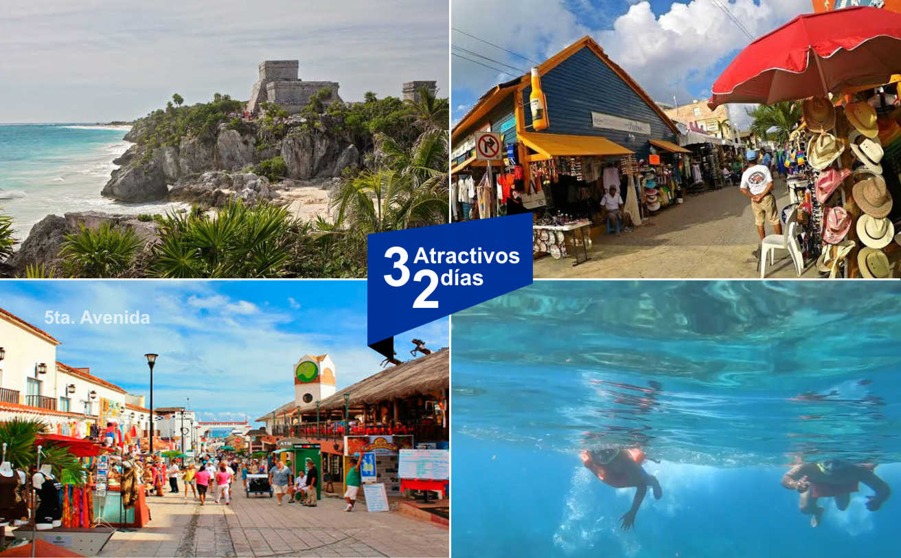 Tulum, Playa del Carmen e Isla Mujeres | 2 días, Paquete Económico | Tz19