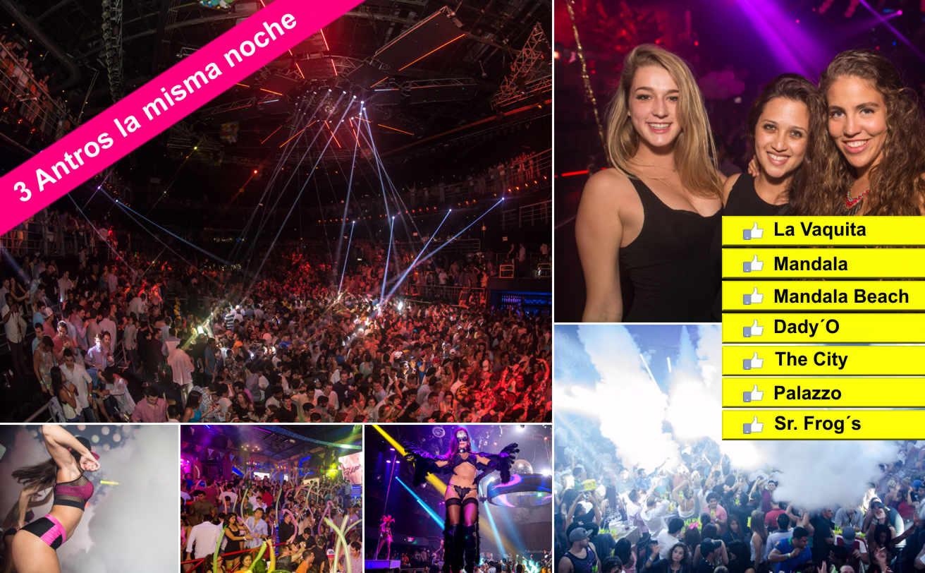 Fiesta 3 ANTROS la misma noche con Barra Libre