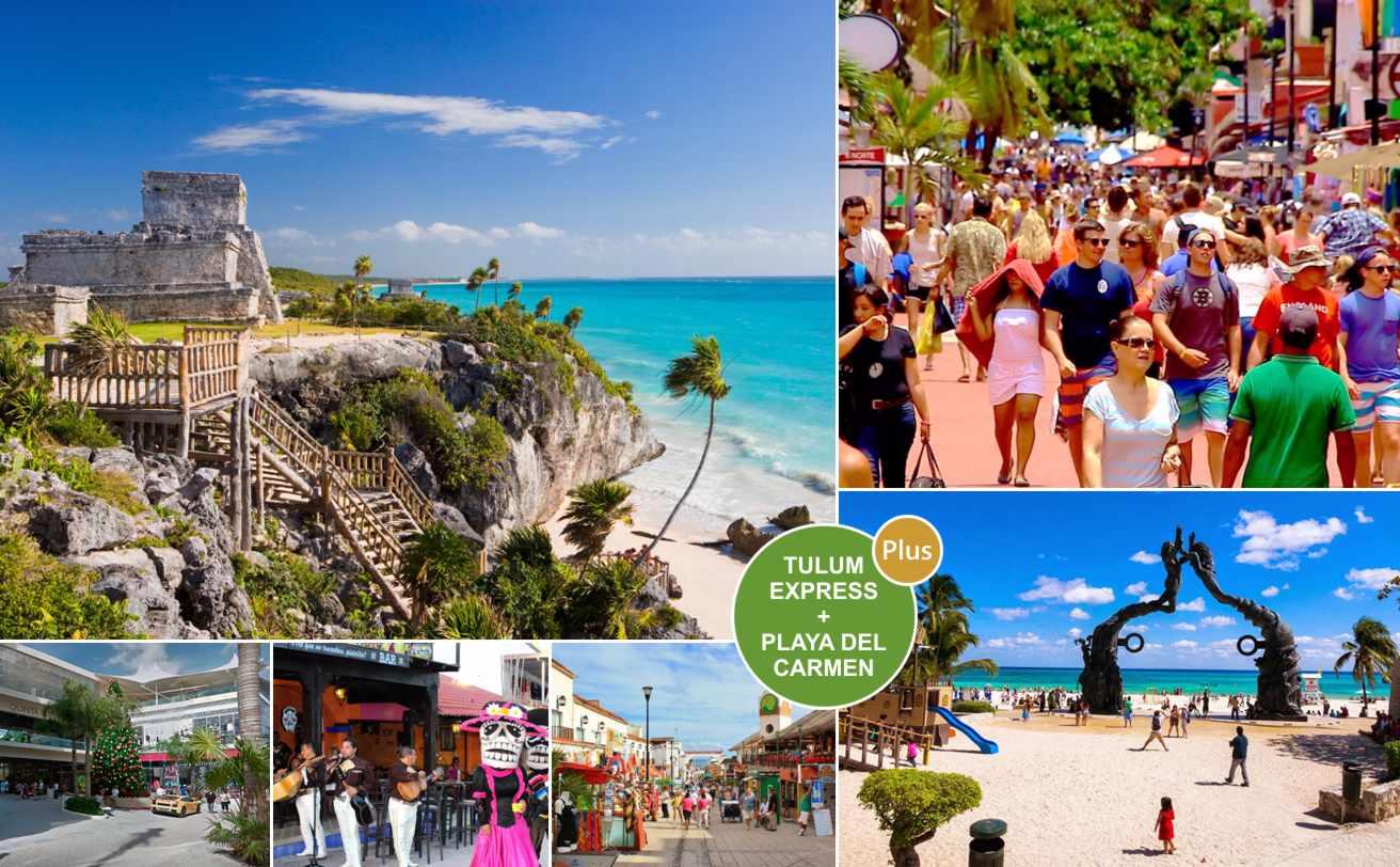 Tulum y Playa del Carmen PLUS  desde Cancún ✓ | Tz19