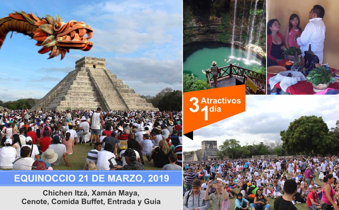 Chichen Itzá 21 Marzo, 2018, Equinoccio desde Playa del Carmen