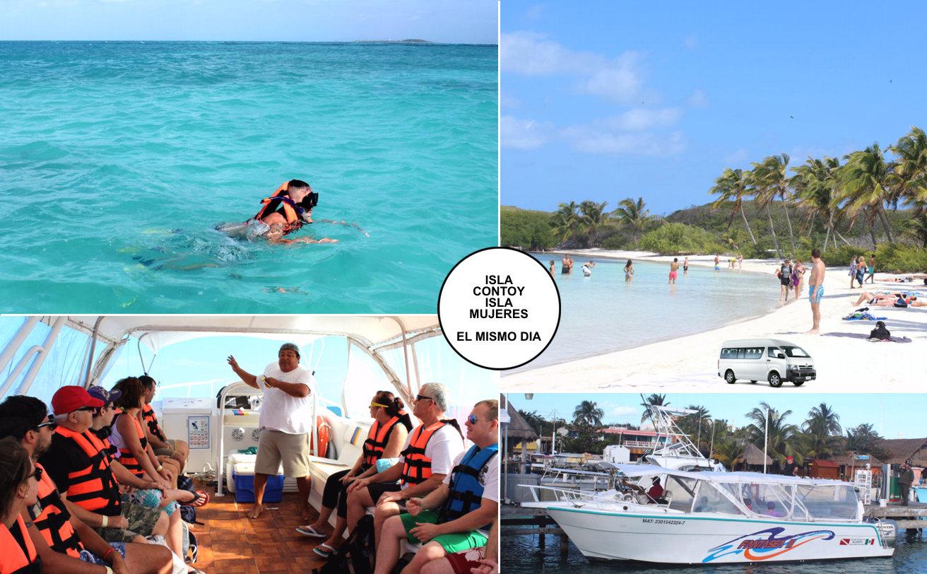 Isla CONTOY y Snorkel desde Cancún ✓