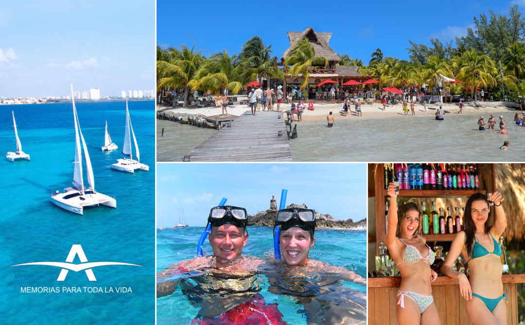 ISLA MUJERES en CATAMARAN y Snorkel desde Cancún ✔