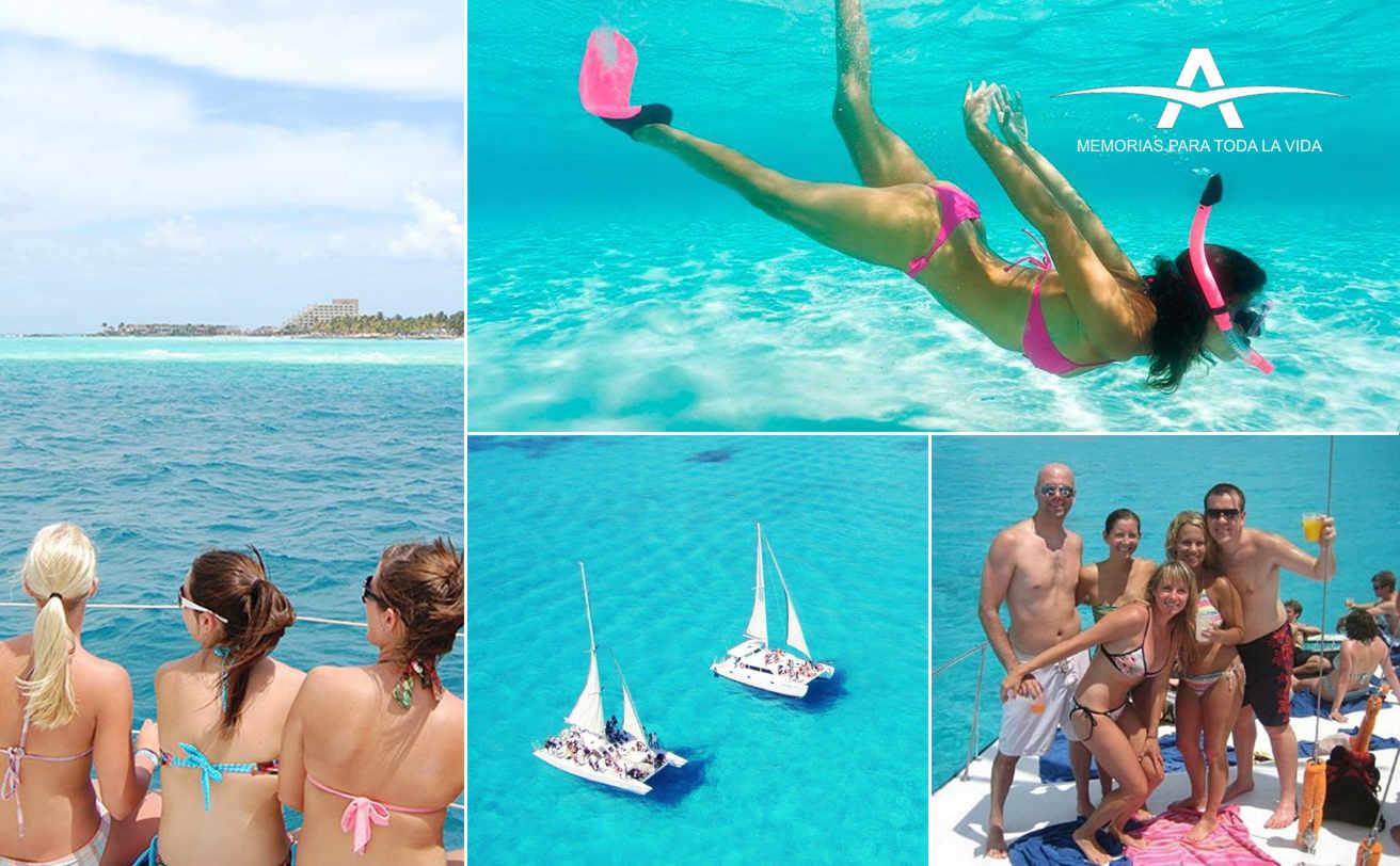 ISLA MUJERES en CATAMARAN y Snorkel desde Playa del Carmen