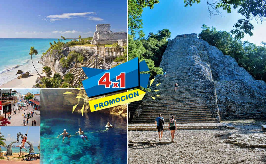 Tulum, Cobá, Cenote y Playa del Carmen PLUS desde Cancún | VC19
